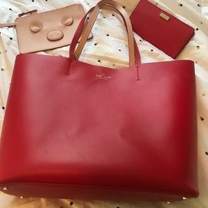 Large leather Kate Spade purse and wallet